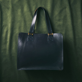 LEATHER TOTE BAG FLAT M